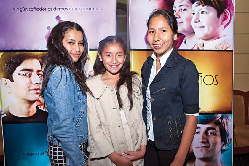 Valentina Pardo, Azul Villalta y Fabiola Mendia.
