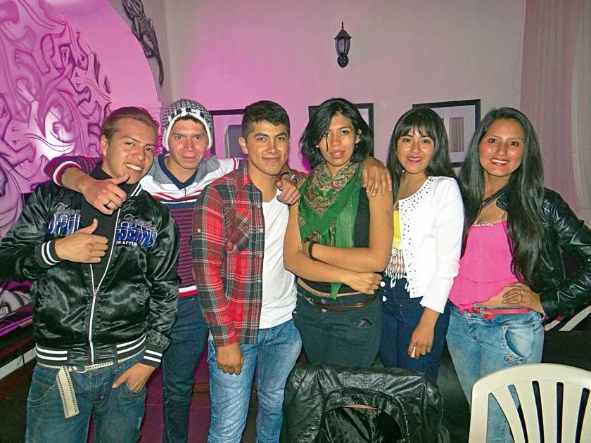 John, Cristian, Snyder, Karen, Katie y Valeria.