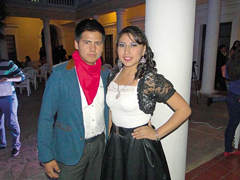 Leonardo Mauricio y Claudia Rojas.