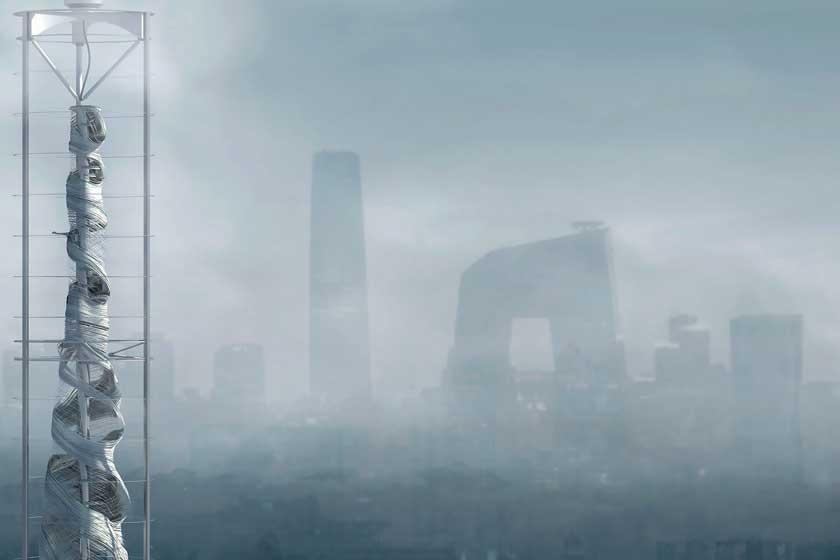 'Air-Stalagmite', de los estadounidenses Changsoo Park y Sizhe Chen, es una edificación de gran altura que emergería