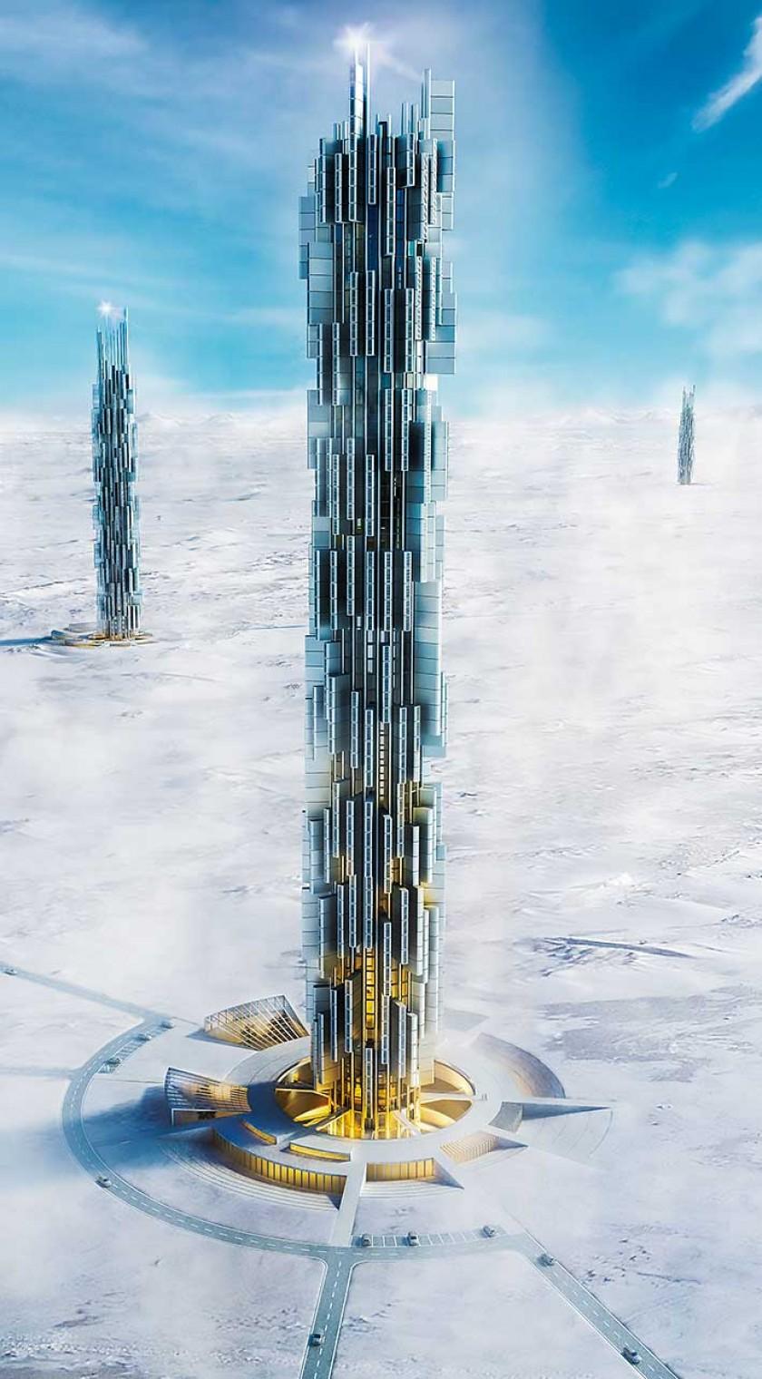 """El proyecto """"Data Skyscraper"""" es un centro de datos localizado en Islandia y concebido como una gigantesca placa base"""