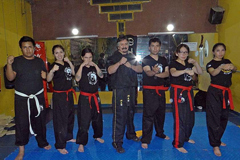 Los instructores: Eduardo Rollano, Karen Sofía Poppe, Alejandro Rodríguez, Fernando Rocha (Director Si Kung), Fernando S