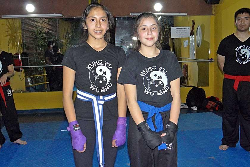 Cinturón Azul: Lesly Cervantes y Camila Montesinos.