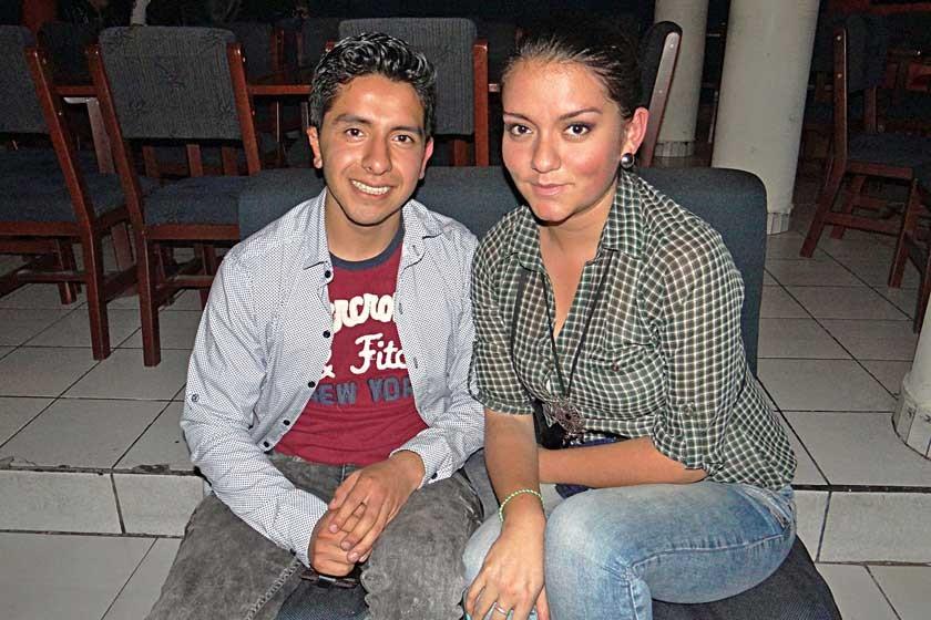 Efraín Avendaño y Noelia Salinas.
