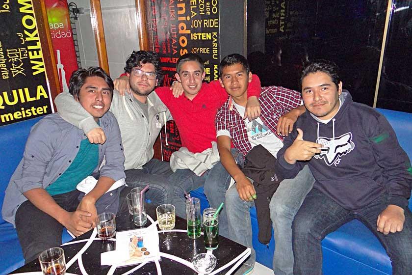 Rodolfo, Herland, Alejandro, Ale, y Miguel