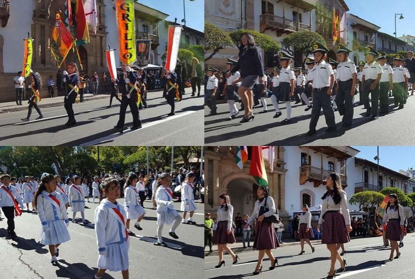 El Desfile Escolar se desarrolla con mucho fervor cívico. Fotos: César Vale y Richard Mamani