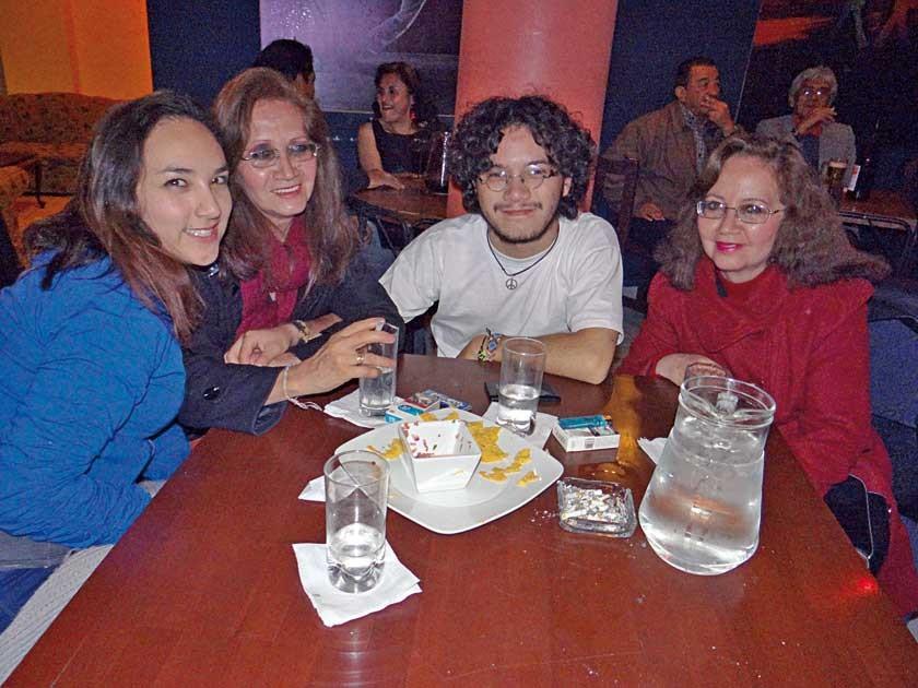 Maité Abastoflor, Teresa Padilla, Nicolás Salinas y María del Carmen Padilla.