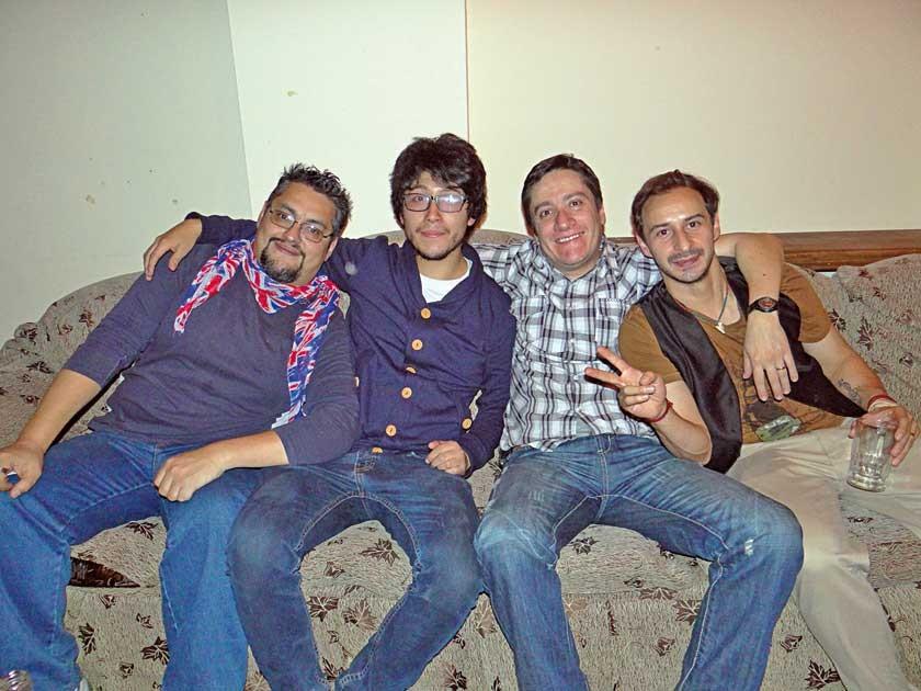 Liverpool: Arturo, Juan Pablo, René y Mauricio.
