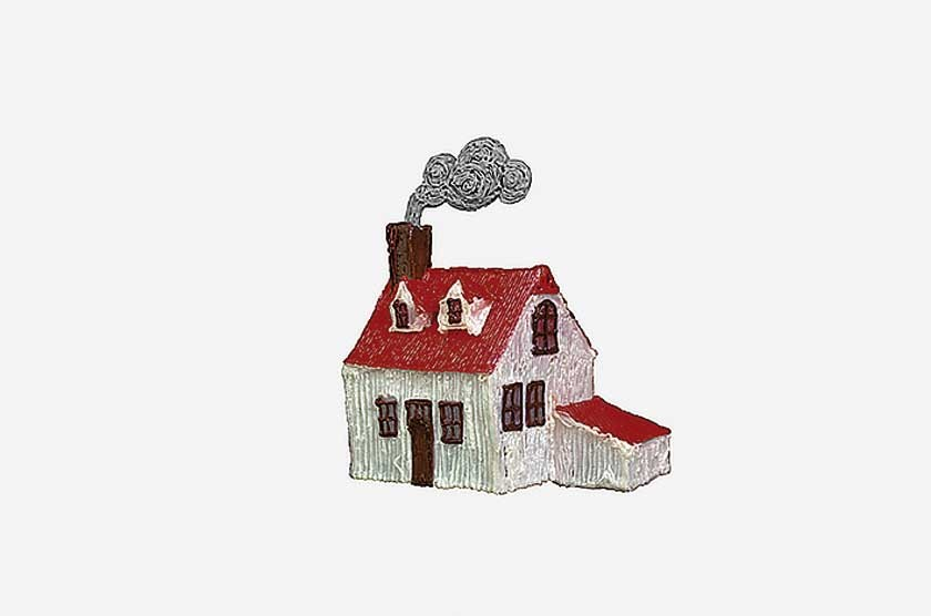 """Una casa creada con la pluma """"mágica""""."""