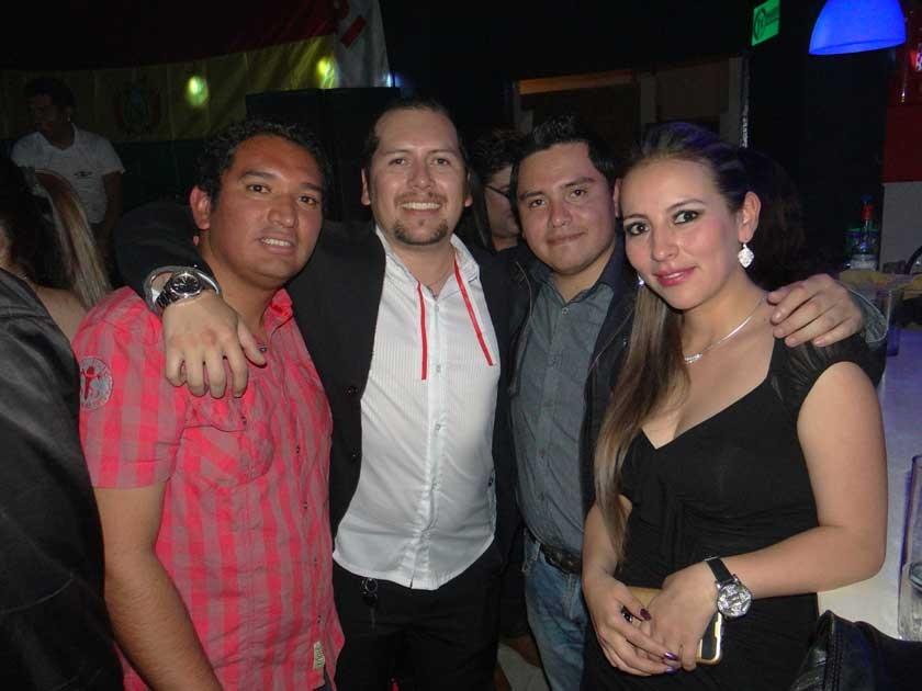 Alberto Barrón, Freddy García, Pepe Vásquez y Mónica Mercado.