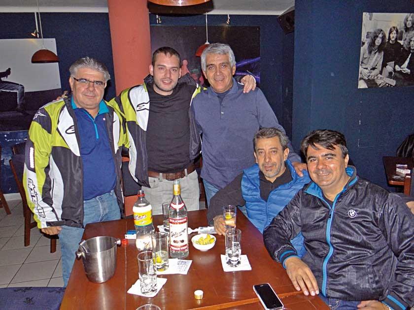 Motoclub Tarija: Jaime Ruíz, Fechito Barzón, Gonzalo Trigo, Julio Ulloa y Eulogio Ruíz.