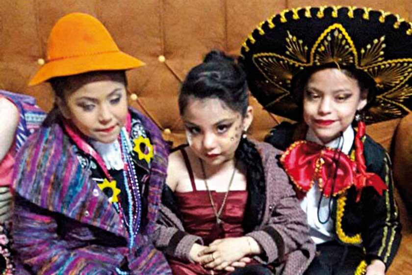 Luana Morales, Gia Sofía León y Valentina Baptista.