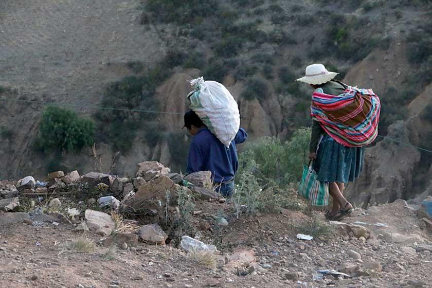 POBREZA. El alto índice de pobreza en Chuquisaca incide en que la población no tenga un acceso adecuado a alimentos vari