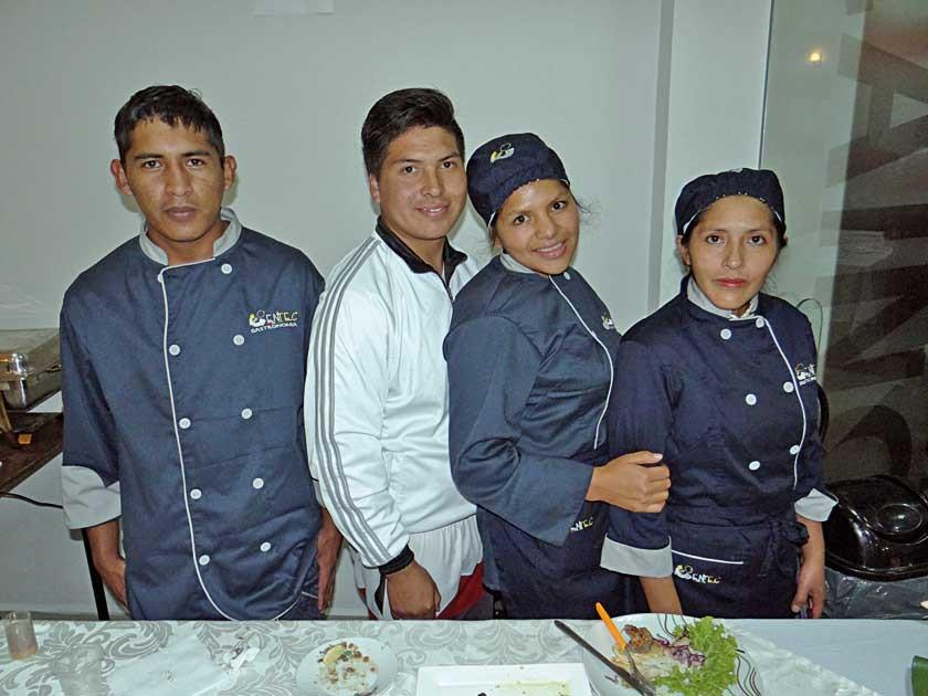 Vladimir Chavarría, Nicolas Vargas, Yesica Patiño  y Tumiri Lora.