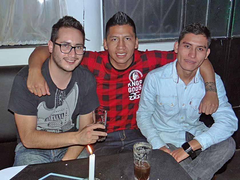 Kevin Alurralde, Nacho West y Miguel Bautista.