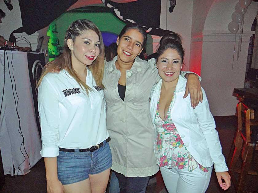 Fabiola Chávez, Grecia Bober y Jaquelin Gutiérrez.