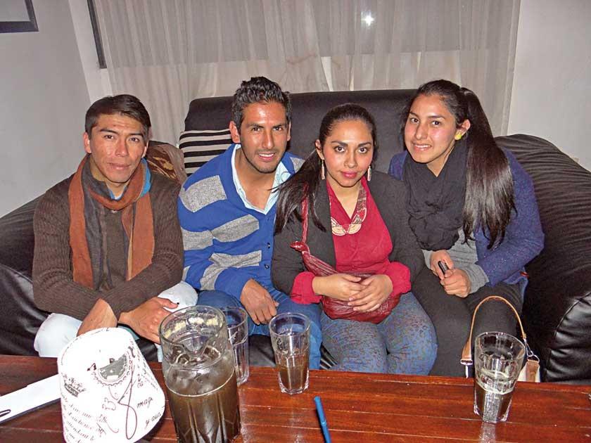 Osmar Salazar, Mariano Rojas, Alejandra Romero  y Dayana Tarachi.