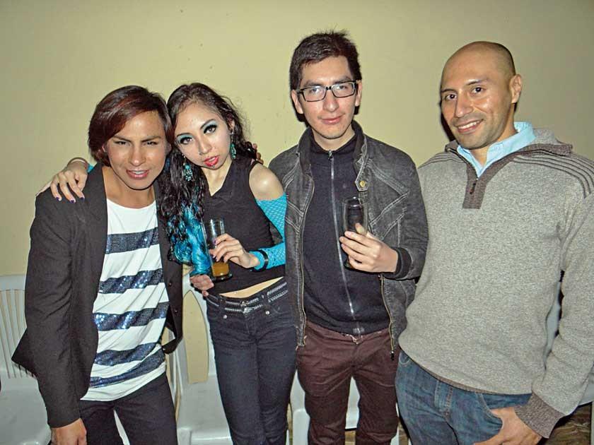 Francis Mejía, Kimberly Ortiz, Israel Pérez y Limbert Carrillo.