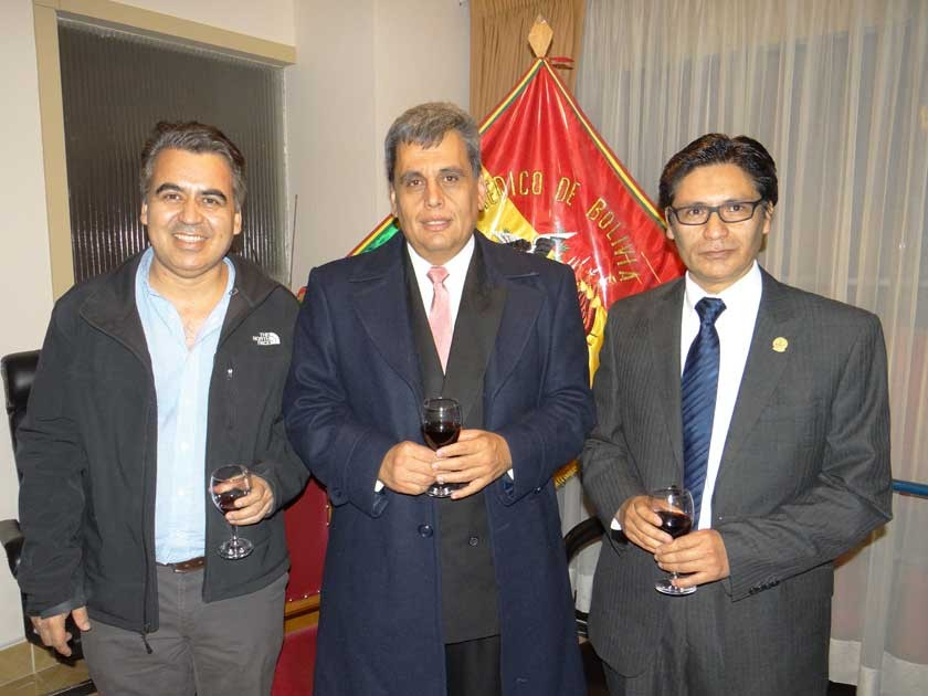 Gueider Salas, Marcelo Centeno y David Gardeazabal.