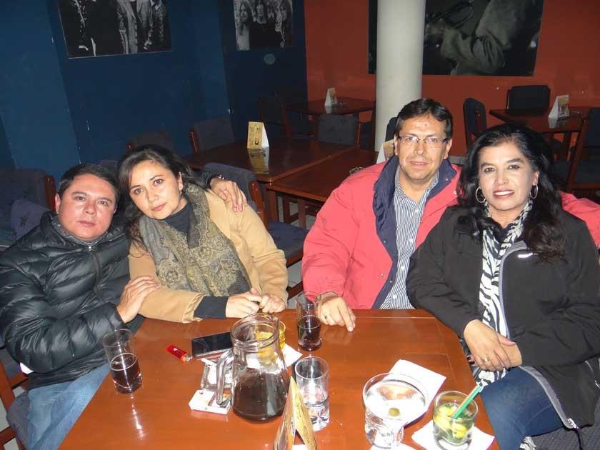 Cristina Ballesteros, Karina Matienzo, Adhemar Nava e Isabel Montesinos.