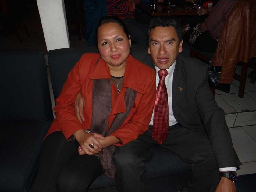 Jackeline Cambará y Marco Sánchez.