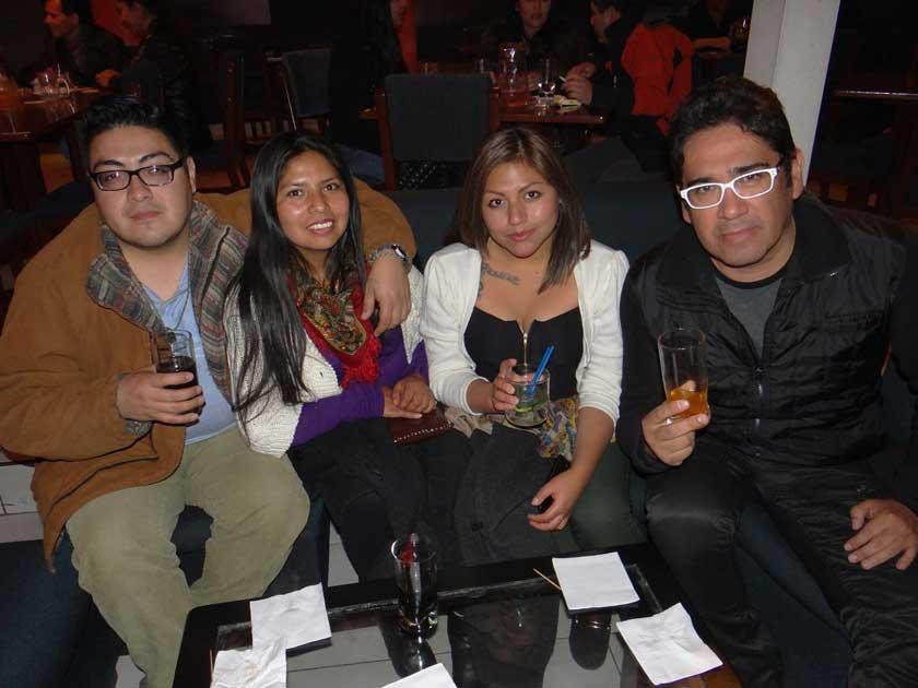 Miguel Chávez,  Sonia Muraña de Chávez,  Maribel Serrudo  y Rudy Flores.