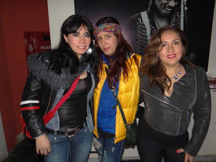 Sonia Dávalos, Diana Daza y Nilda Baspineiro.