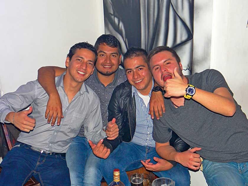 """Daniel Chávez, Sergio Encinas, Rodrigo Díaz y """"Papu"""" Paputsachis."""
