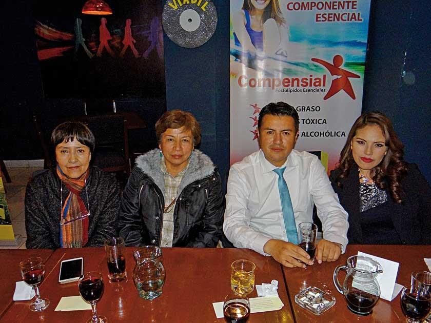 Greta Vargas, Yanet Lijerón, Marcelo Fernández  y Ana Segales.