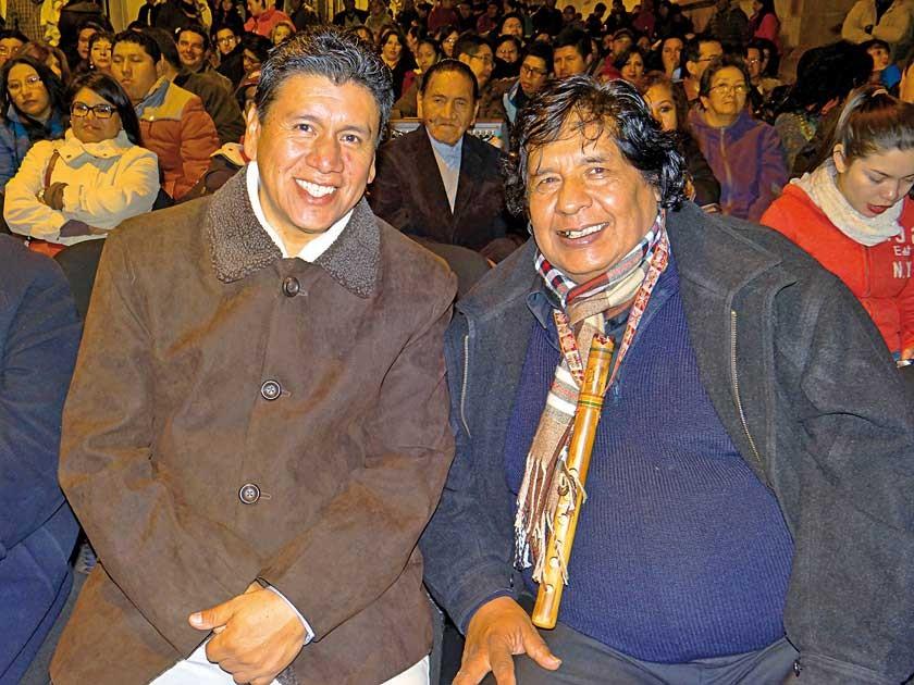 Iván Arciénaga y Roberto Sahonero.