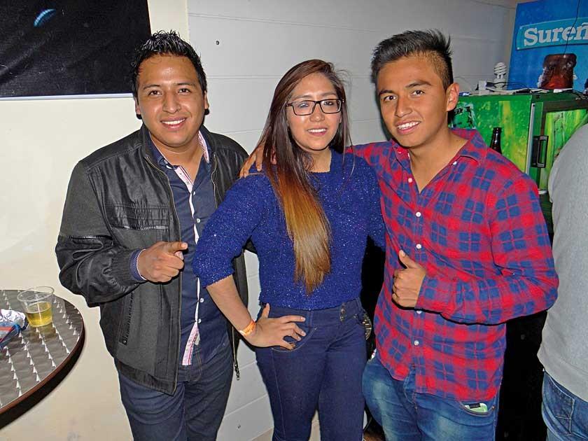 Cristian Callejas, Horty Palenque y Harold Alcón.