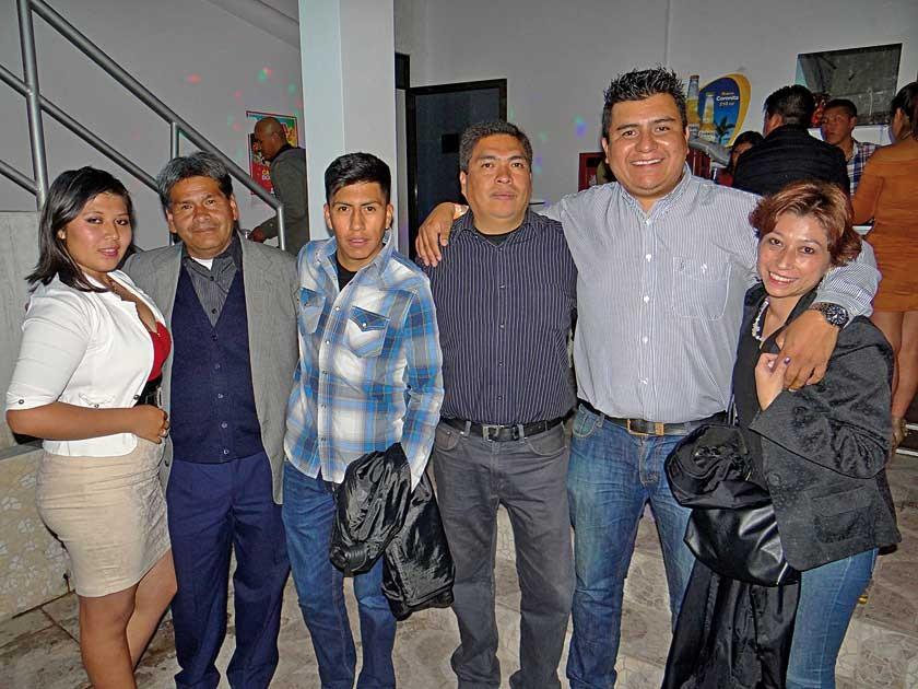 Rosario Cardozo, Jesús Ríos, Cristian Rodas, Daniel Aguilera,  Marcelo Ruíz y Naritza Paniagua.
