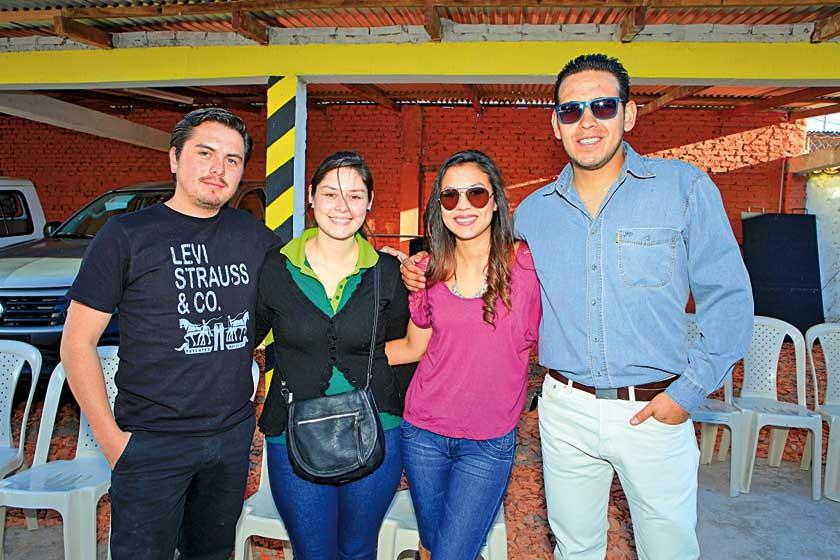 Daniel Hernaiz, Fernanda Taboada, Fabiola Rejas y José Luis Zelaya.