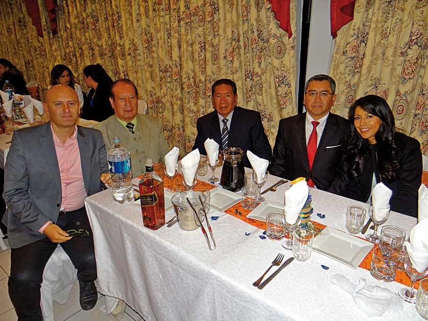 Julián Salazar, Macedonio Delgado, Benigno Olguín, Giovanni Velasco y Tamara Velasco.