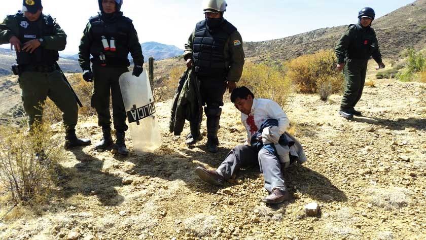 DETENIDO. Un transportista herido por la vaina de una granada.