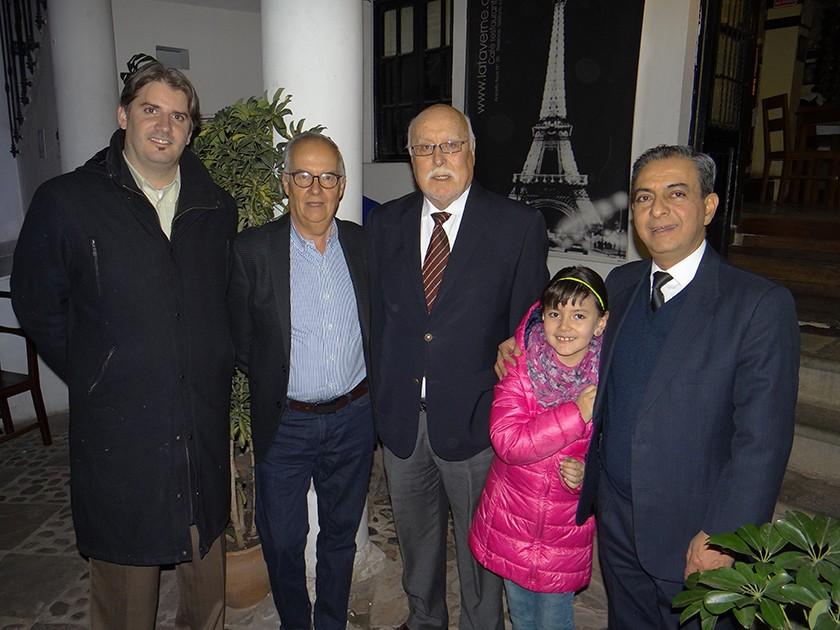 Cristophe Moris, Luís Rodríguez, Rolando Ávila, Amelia Moris y Eduardo Urriolagoitia.