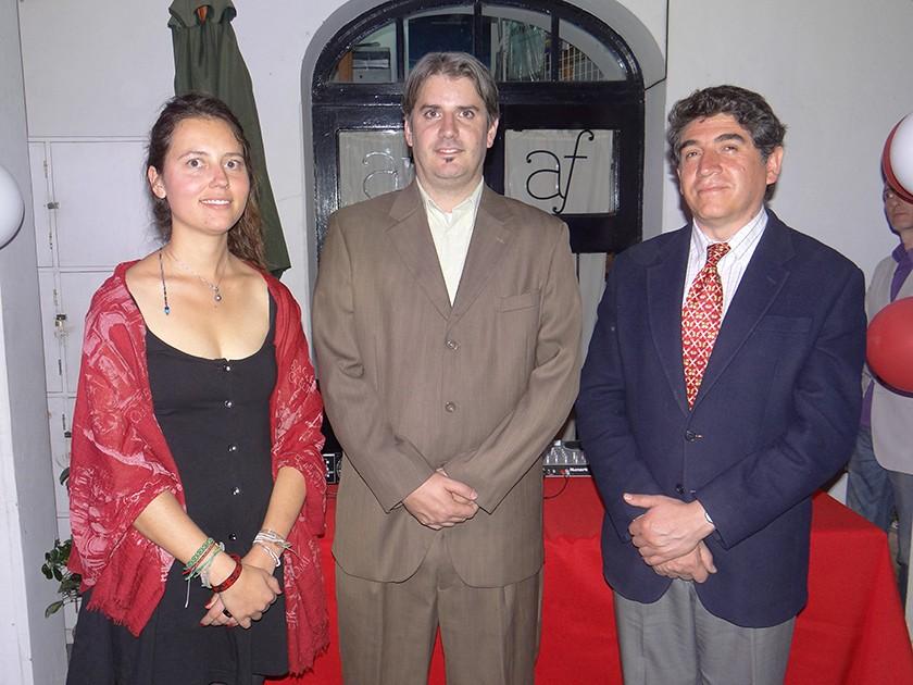 Eléonore Gire, Christophe Moris y Domingo Izquierdo.