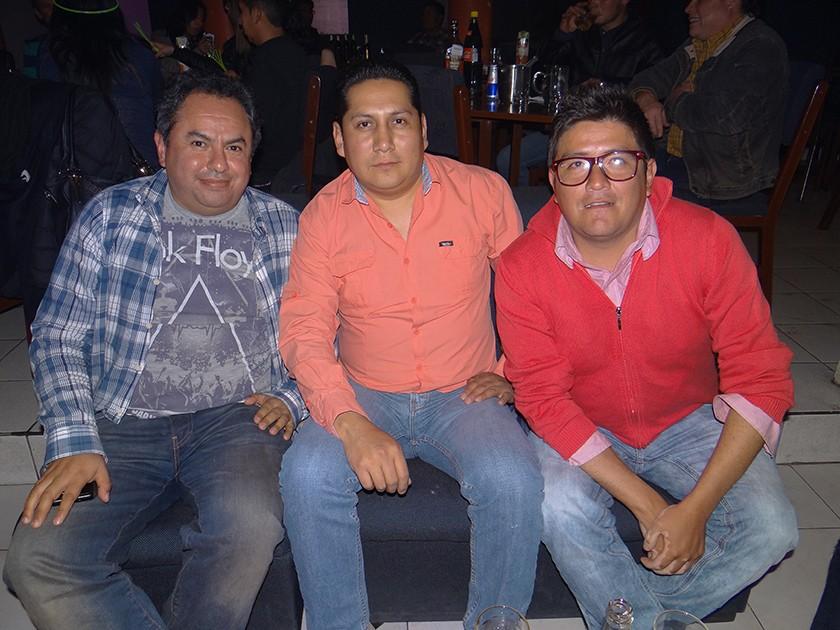 Marvin Torres, Javier Zapata y Cristian Romero.