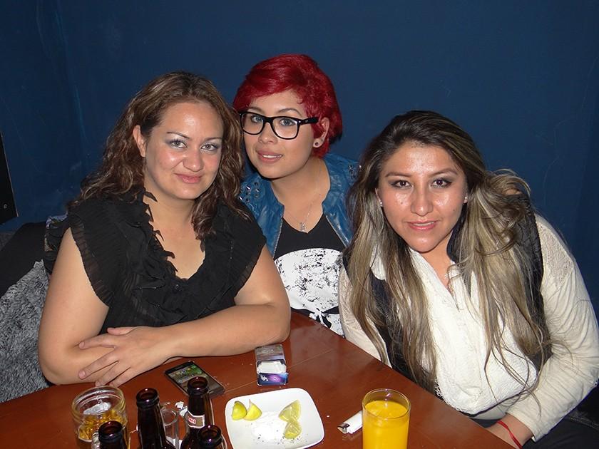 Patricia Camargo, Graciela Limón y Aella Clavijo.