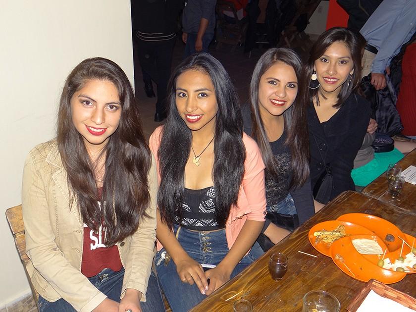 Maru Caballero, Daniela Montero,  Kimberly Ajalla y Jahdiel Torres.