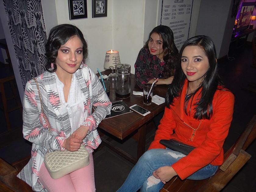 Mariana Sánchez, Raquel Gardeazabal y Lupita Miranda.