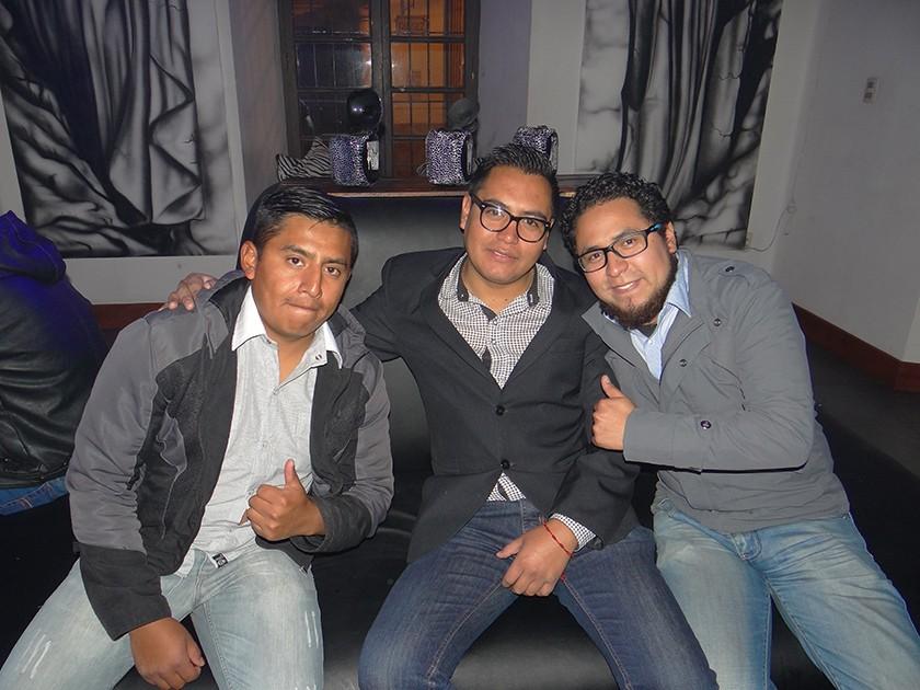 Mauricio Tankara, Nelson Castro y Daniel Medrano.