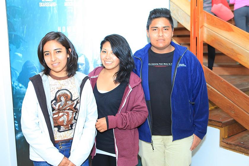 Valentina Rodríguez, Shedenka Castillo y Enoc Rodríguez.