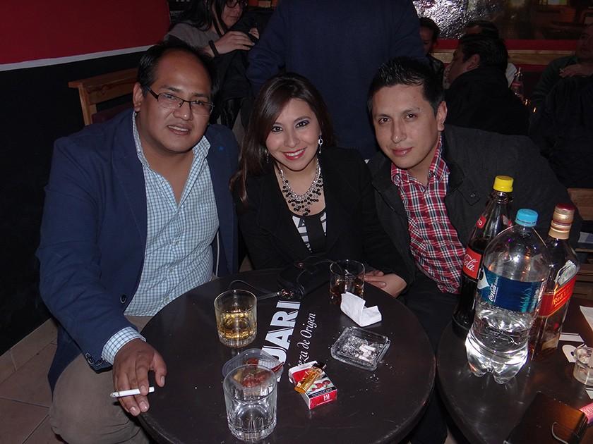 Sergio Vildoso, Amy Camargo y Mauricio Daza.