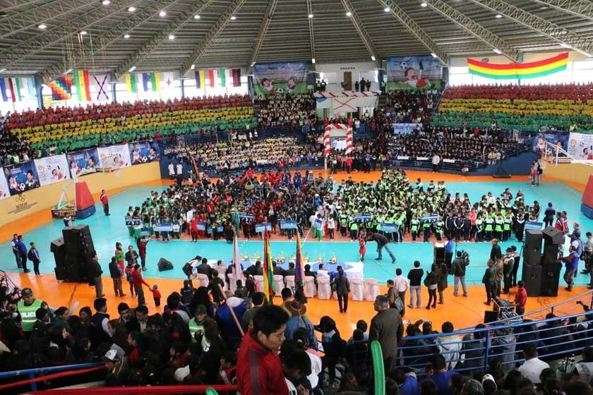 Ayer se inauguró la fase departamental de los Juegos Deportivos Estudiantiles Nivel Primario.