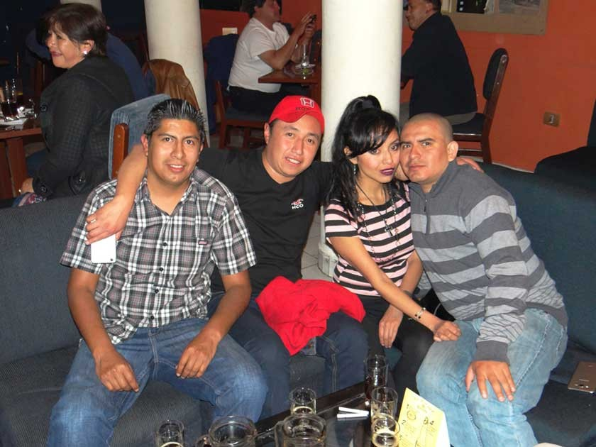 Alejandro Mendoza, Bayron Lazcano, Tiffa de Cruz y César Cruz.