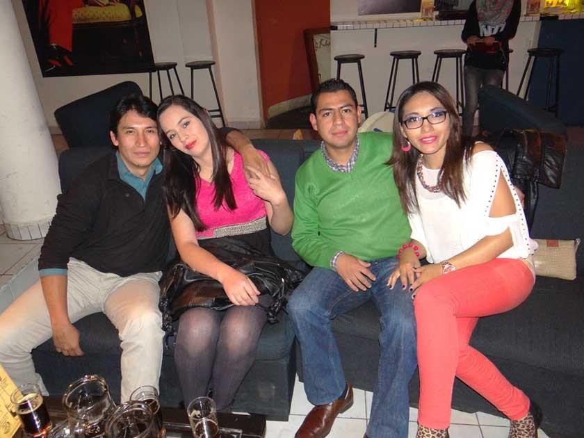 Daniel Echalar, Silvana Flores, Milder Marín y Eliana Poquechoque.