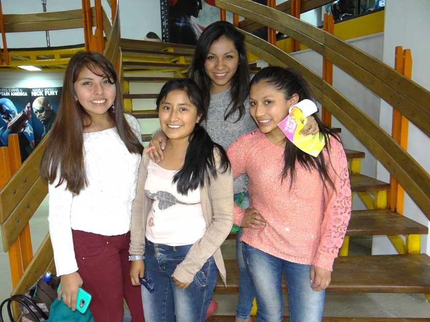 Evelin Encalada, Ximena Serrudo, Boneth Berríos  y Guery Arancibia.