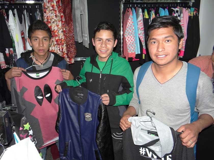 Neyson Morales, Marco Ferrufino y Andy Basagoitia.