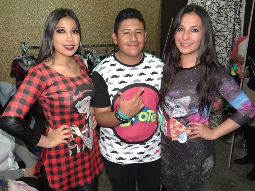 Nicole La Fuente, Sebastián Aníbarro y María Illanez.